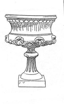 ALP-103 FLOWER URN