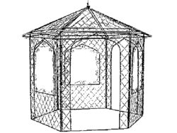 GAZ-006 HEXAGON GAZEBO 8' ACROSS
