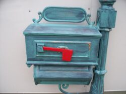 MB-A4100 COUNTRY MAILBOX WITH HEX PAPER BOX