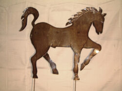 TIN-001 PRANCING HORSE