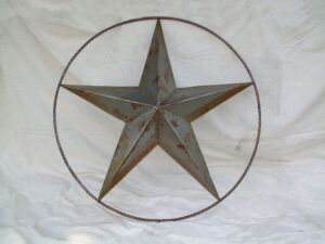 TIN-027 JUMBO TIN STAR IN RING 70in dia