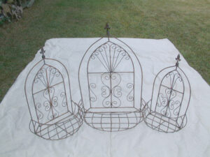 WBA-068 3PC SET GOTHIC WALL BASKET