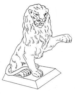 ALS-121 SITTING LION LEFT