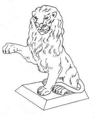 ALS-122 SITTING LION RIGHT