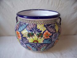 CLY-257 MED BIG EARED TALAVERA POT
