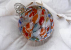 GLASS -1422 Small Glass Ornament Sphere various colors