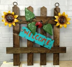 WOOD-330 SUNFLOWER WELCOME WOOD FENCE