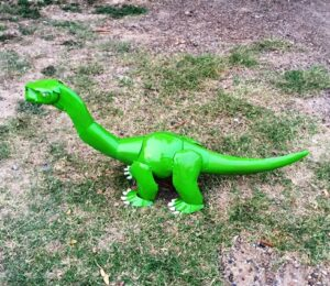 TIN-210 GREEN BRONTASAURUS