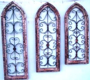 WOOD-415 GOTHIC 3pc WINDOW set