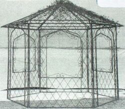 GAZ-007 HEXAGON GAZEBO  10' across